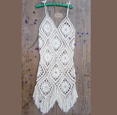 Crochet Dress, Boho Dress, Summer Dress, Beach Dress, Festive Dress, Fringe Dress, Crochet Summer Dress