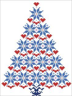Cross stitch pattern Christmas TreeInstant by CrossStitchVillage Knitted Christmas Stocking Patterns, Knitted Christmas Stockings, Christmas Knitting, Christmas Cross, Christmas Tree, Cross Stitching, Cross Stitch Embroidery, Embroidery Patterns, Cross Stitch Designs