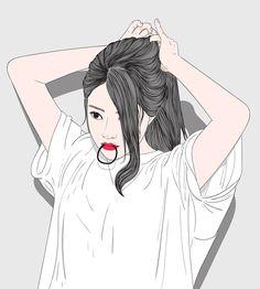 Cartoon Girl Images, Cartoon Girl Drawing, Girl Cartoon, Cartoon Art, Girly Drawings, Cool Art Drawings, Art And Illustration, Beautiful Girl Drawing, Cute Girl Wallpaper