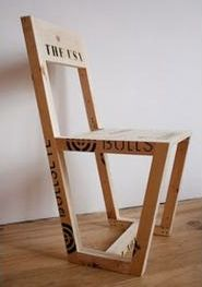 Upcycle Us: A chair made from a pallet