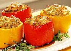 healthy turkey stuffed bell pepper