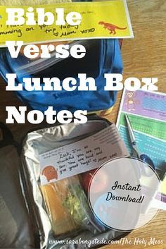 Encourage your kids today! Print these free Bible Verse Lunch Box Notes, perfect for Back to School or anytime. A free, immediate download, no sign-up necessary. Click now.