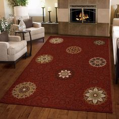 Carolina Weavers Harmony Collection Aracadia Cinnabar Area Rug