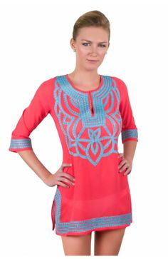 Poly Georgette Embroidered Tunic