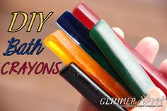 DIY Bath Crayons ... She actually makes these for her kids as well.. Recipe tested