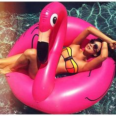 Inflatable Giant Pink Flamingo Shaped Pool Float Raft Ring Swimming Fun Toys in Sporting Goods, Swimming, Floats & Inflatables | eBay