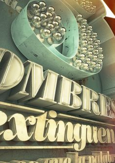 3D Typography by Pablo Lopez, via Behance