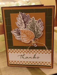 Windy's Wonderful Creations, Stampin' Up!, Vintage Leaves,Bohemian DSP, Brick Wall emboss folder