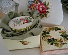 My handmade. Beautiful Roses, Baroque, Needlepoint, Needlework, Decorative Boxes, Cross Stitch, Embroidery, Lovely Things, Bed Spreads