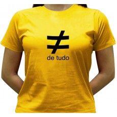 Camiseta Diferente de Tudo - Baby-look