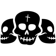 Three Skull Halloween Craft Rubber Stamp >>> Want additional info? Click on the image.
