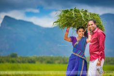 Rhythm of Love - An Interesting Journey To Village Life Kerala Wedding Photography, Wedding Couple Poses Photography, Couple Photoshoot Poses, Couple Posing, Couple Shoot, Pre Wedding Shoot Ideas, Pre Wedding Poses, Pre Wedding Photoshoot, Village Photography