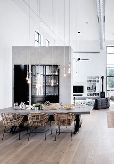 One of the most popular interior design for home is modern. The modern interior will make your home looks elegant and also amazing because of its natural material. If you want to design your home inte Interior Design Minimalist, Modern Interior, Home Interior Design, Interior Architecture, Room Interior, Apartment Interior, Studio Apartment, Warehouse Apartment, Warehouse Office