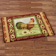 11 Best Rooster Rugs Images Rooster Rooster Rug Hens