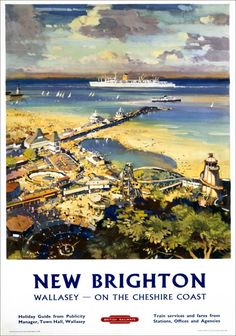 Image result for .BR New Brighton,WALLASEY ON THE CHESHIRE COAST POSTER
