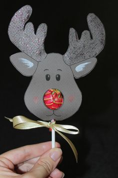 Reindeer Lollipop tutorial and template by Thomasina.: