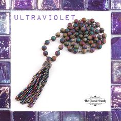 Celebrating the #pantonecoloroftheyear2018 #UltraViolet...with our striking Natural Stone & Beaded Tassel Necklace. 💜 #shopnow www.theglocaltrunk.com . . . . . #theglocaltrunk #pantone #ultraviolet #naturalstones #naturalbeads #tasselnecklace #longnecklace #fashionjewellery #jewelrygram #mondayvibes #costumejewelry #worldwideshipping #onlinestore   #handmadejewelry #bohemianstyle #handmadeaccessories #accessories #fashion #style #shoppingtime
