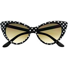 Cute Polka Dot Retro Fashion Style Womens Cat Eye Sunglasses c15 ($20) ❤ liked on Polyvore featuring accessories, eyewear, sunglasses, polka dot glasses, dot sunglasses, retro glasses, dot glasses and cateye sunglasses