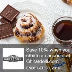 Ghirardelli Coupon  New Customers: Save 10% when you create an account at Ghirardelli.com with code.  Brought to you by http://www.imin.com and http://www.imin.com/store-coupons/ghirardelli