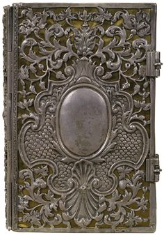 'New Testament'  Silver metal on black leather  Binder unknown, 1710