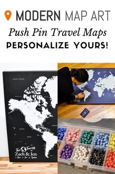 Do you love to travel the world? You'll love our personalized push pin world map! It's a beautiful black, grey, and white world map with lots of cities and comes with pins. It also makes a great gift for the traveler in your life! World Map With Pins, Push Pin World Map, Visit Florida, Travel Maps, Travel Packing, Usa Travel, Travel Destinations, Thailand Travel, Bali Travel