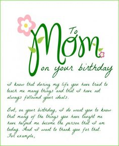 Happy birthday mom wishes for funny cards and quotes mother from happy birthday mom bookmarktalkfo Images