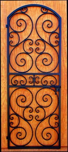 Wine Cellar Door or Gate - Wrought Iron Scalloped Scroll