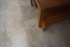 Here is another image sent in by our lovely customer of the Classic Travertine tumbled Travertine Floors, Happy Monday, Outdoor Furniture, Outdoor Decor, Backyard Landscaping, Landscape Design, Natural Stones, Tile Floor, Tiles