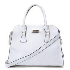 Price:$85.74 Michael Kors Gia Leather Large White Satchels http://www.michaelkorspro.com/
