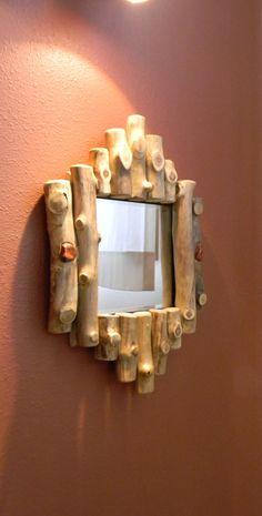 rustic log mirror by AspenSpirit on Etsy, $158.00