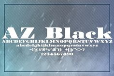 AZ Black by Artistofdesign on @creativemarket