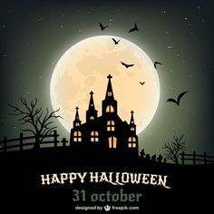 Happy Halloween poster Free Vector