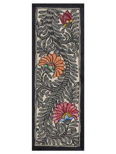 Floral Madhubani Artwork on Handmade Paper