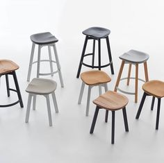 Su stools by @emecochairs great material variations.  Follow @platform____ for daily design content and Inspiration Small Stool, Bar Stools, Table, Inspiration, Furniture, Platform, Content, Design, Home Decor