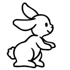 Easy Bunny Drawings Bunny Coloring Pages - Litle Pups