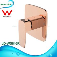 Rose Gold Square Water Mixer Control for Bathroom Shower Bath