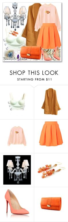 """""""BEAUTIFULHALO.COM-V-25"""" by ane-twist ❤ liked on Polyvore featuring Christian Louboutin, women's clothing, women, female, woman, misses and juniors"""