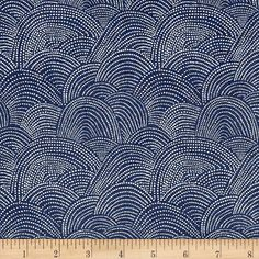 Designed by Rae Ritchie for Dear Stella Designs, this cotton print collection features subtle hues with nature inspired designs. Perfect for quilting, apparel, and home decor accents. Colors include navy blue and light blue.