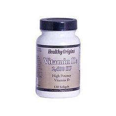 Healthy Origins Vitamin D3 2400 IU (120 Softgels)