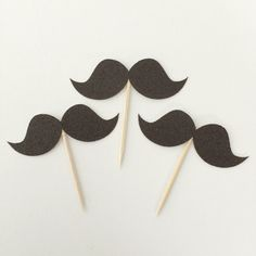 12 Glitter Mustache Cupcake Toppers • Baby Shower • Birthday Topper • Mustache Party • Boy Birthday Party • Wedding • Little Man Birthday by TrendiConfetti on Etsy https://www.etsy.com/ca/listing/462395983/12-glitter-mustache-cupcake-toppers-baby