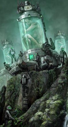 Erotic fantasy sci fi art