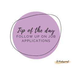 Follow up on job applications.  #CVProfessional #linkedinoptimization #careerhelp #resumetips #needaresume #resumes #resumewritinghelp #curriculumvitaedesign #resumewriters #resumehelp #resumewritingtips #resumeservices #careergirls #resumewritingservice #femaleboss #careeroptions #careersupport #interviewtip #linkedintip #coverletterwriting #linkedinprofile #interviewquestions #resumeservice #resume #resumeadvice #resumewriter #femaleentrepreneur #linkedin #linkedinjobs #bhfyp Resume Advice, Resume Writing Services, Resume Writing Tips, Resume Writer, Resume Help, Career Help, Career Options, Consulting Firms, Tip Of The Day