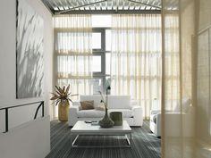 Met streepmotieven en vlakken kunnen de proporties van een kamer gevoelsmatig beïnvloed worden. Strepen maken een kamer langer of juist breder. #Interfloor