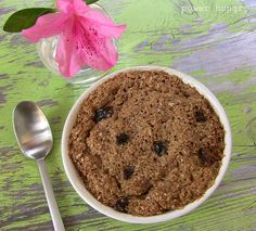Bran Muffin in a Mug!INGREDIENTS ⅓ cup ground Grain Berry Bran Flakes 2 teaspoons flax seed meal (ground flax seeds) ½ teaspoon baking powder ¼ teaspoon ground cinnamon pinch of fine sea salt 1 large egg 2 packets Truvia, Stevia or Provia sweetener Healthy Mug Recipes, Dog Treat Recipes, Wrap Recipes, Healthy Desserts, Crockpot Recipes, Healthy Food, Healthy Eating, Healthy Dinners, Easy Recipes