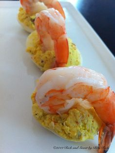 Shrimp and Crab Deviled Eggs - (Rich and Sweet by Bia Rich