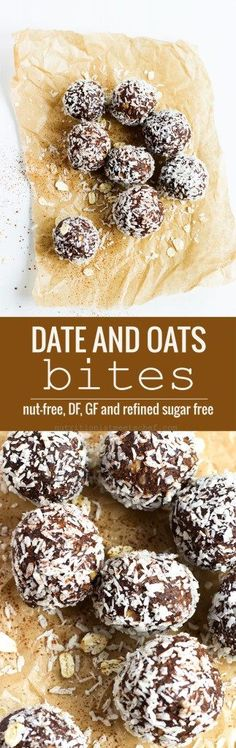 Date and Oat Chocolate Bites! You'll never be able to tell that these are…