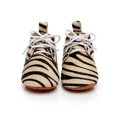 Animal Print Lace Up Leather Baby Shoes