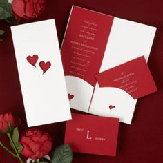 diy wedding invitations for valentine's day wedding | ... on Valentine's Day at the wedding of Anna Jones and George Nicolas