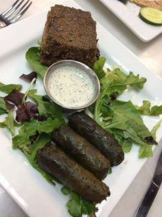 Grape Leaves, Kibbe, and many of your other Lebanese favorites are available in the Brasserie!