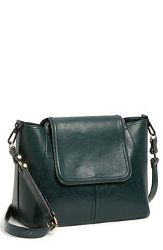 $98, Dark Green Leather Crossbody Bag: French Connection Crossbody Bag Jewel Green. Sold by Nordstrom. Click for more info: https://lookastic.com/women/shop_items/37373/redirect